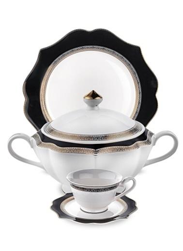 Schafer 85 Dantella Elegantia Collection Fine Bone Yemek Takımı Shf-12000 Gold Altın